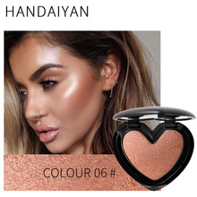 HANDAIYAN Makeup Highlighter Shimmer Face Bronzer Highlighting Powder Palette Concealer Contour Contouring