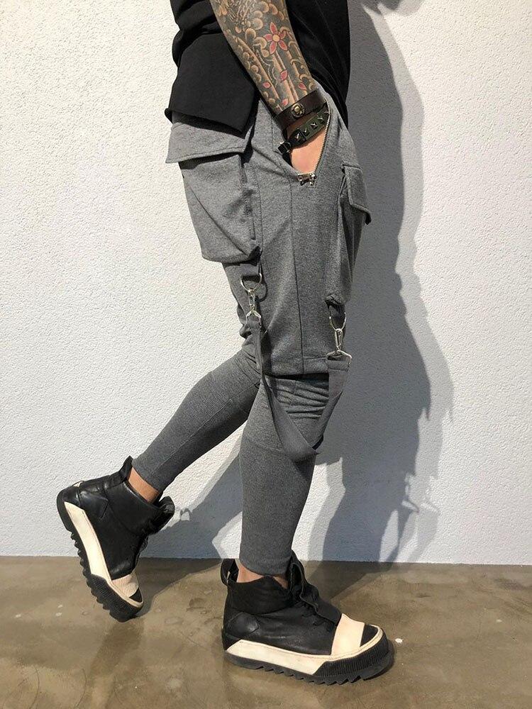 Hip Hop Multi-pocket Brand Men Pants Cotton 2019 Track Pants Joggers Sweatpants Casual Zip Pocket Sweat Pants