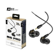 24 Hours Shipping MEE Audio M6 PRO Noise Canceling 3.5mm HiFi In-Ear Monitors Earphones with Detachable Cables Wired Headphones