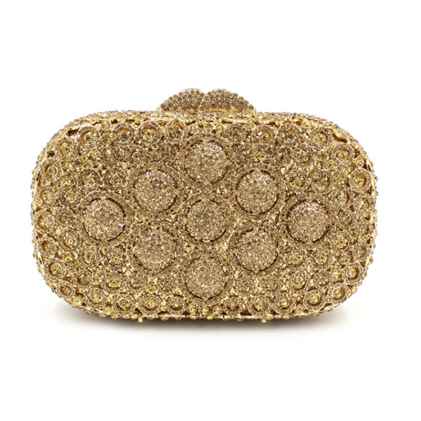 New Ladies Wedding gold Clutch purse Evening Bag Women Crystal Bag Female Socialite Style Party Purses Day Clutch wallet silver natassie new design luxury crystal clutch women evening bag gold red ladies wedding banquet party purses good quality
