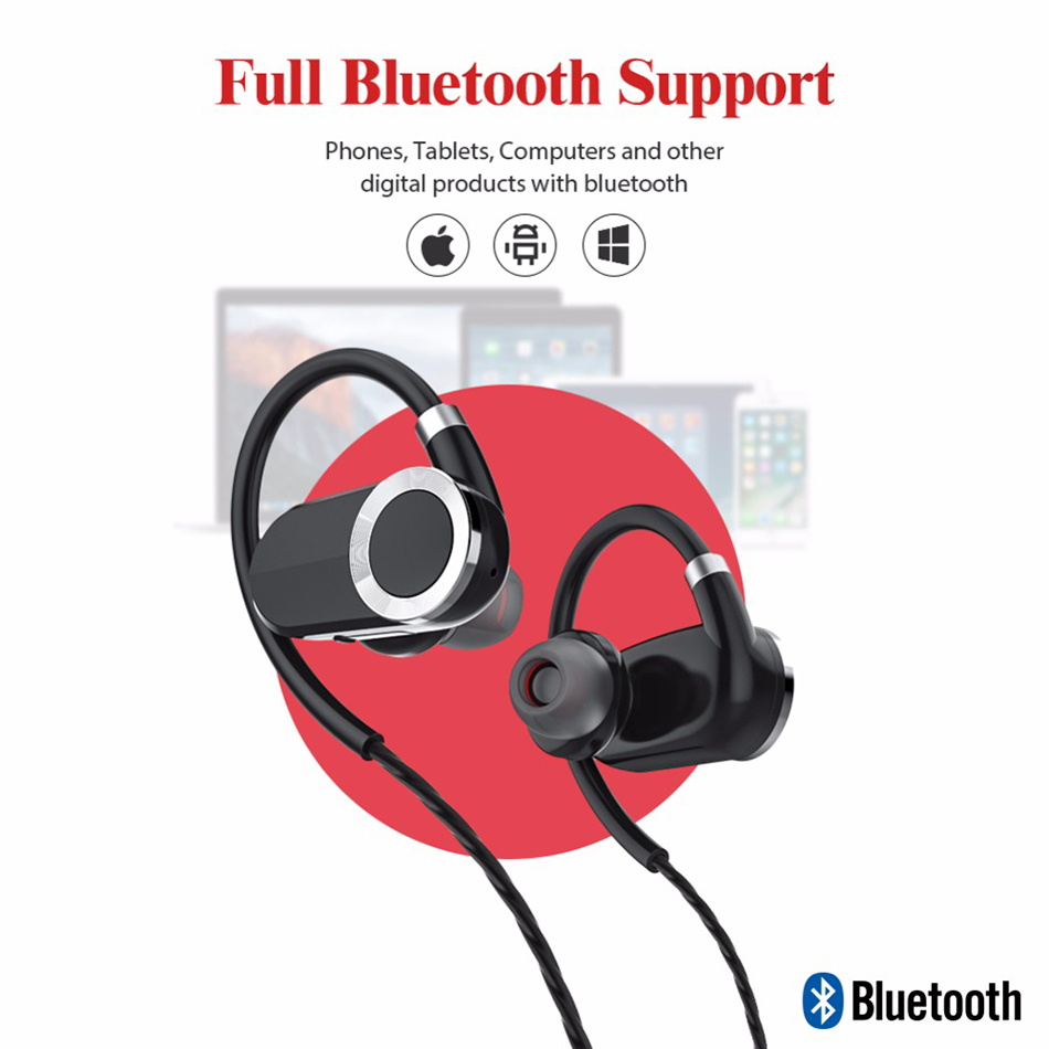 Ktab Wireless Sports Earphones Bluetooth Sport Headset for Gym Running Sweatproof earphone built-in MIC for iPhone cell phones neckband stereo magnetic earbuds bluetooth wireless headset for outdoor sports running gym with built in mic
