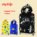Mytrip Thicken Travel Elastic Luggage Cover + Travel Pillow,Suitcase Protective Cover for suitcase, Travel Accessories