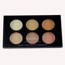 MEIS Brand Makeup Cosmetics Professional Makeup 6 Colors Conealer Contour Paletter Contouring Makeup Face Soft smile MS0630