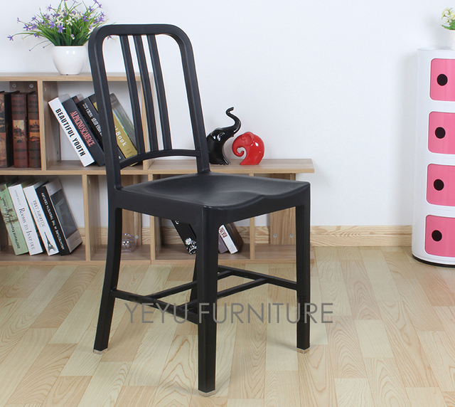 Minimalist Modern Design Plastic Dining Side Chair Navy Chair Popular Dining Furniture Leisure side Chair modern & Minimalist Modern Design Plastic Dining Side Chair Navy Chair ...