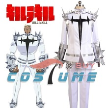 убить la убить ира gamagoori окончательной формы единообразных сверху белый пант японских аниме группа хэллоуин хэллоуин косплей костюм