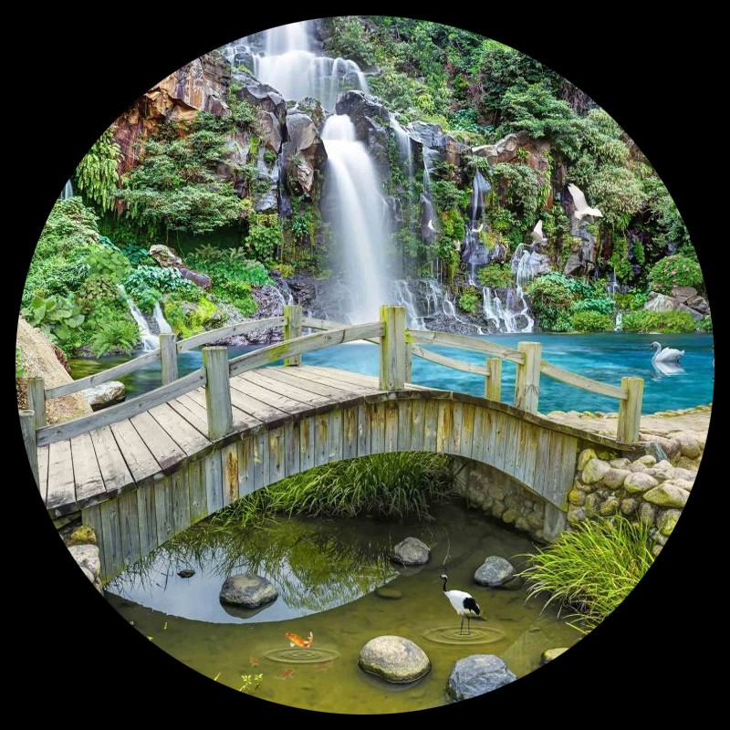 Custom-Any-Size-3D-Mural-Wallpaper-Small-Bridge-Running-Water-Waterfall-Nature-Landscape-Photo-Background-Wall (3)