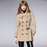 BURDULLY 2018 Мода Высокое качество куртка ромб с лацканами Демисезонный длинная куртка хлопковая парка зимнее пальто Верхняя одежда Для женщин