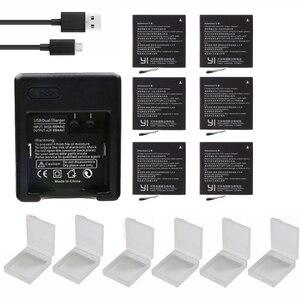 Xiaoyi yi Original yi 4K action battery pack + USB Dual for xiaomi yi lite battery Charger For xiaomi yi action camera 4 k(China)