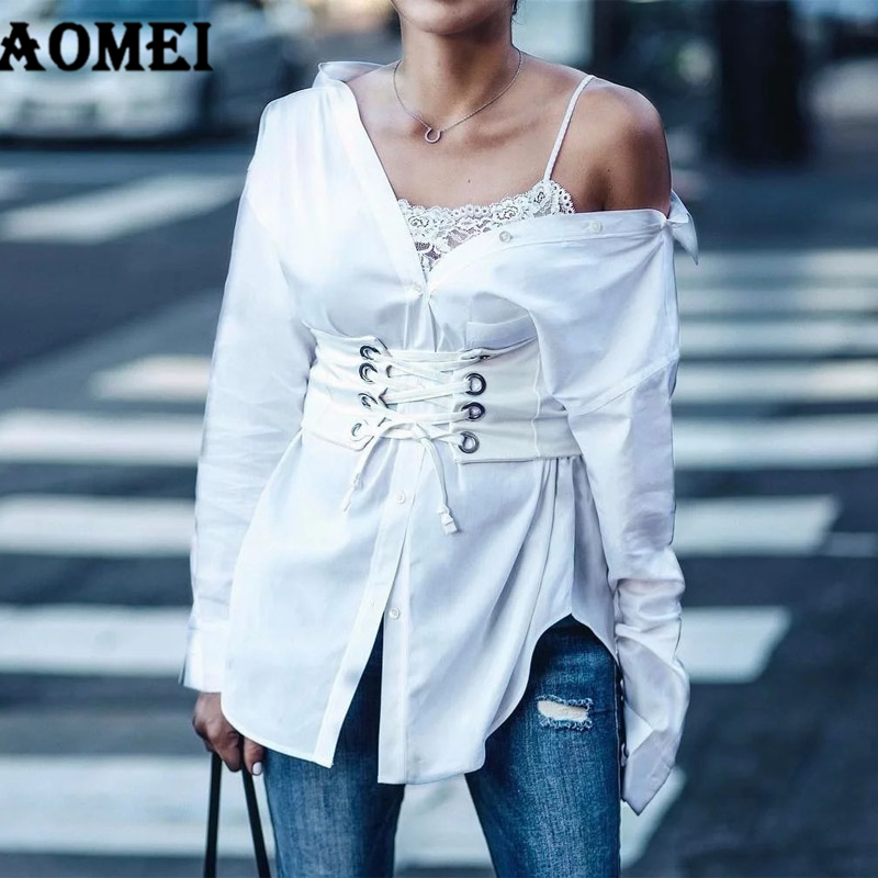 New Arrival Slim Lace Up Corset Bandage Belt Womens Summer Wide Drawstring High Waist Belt Eyelest
