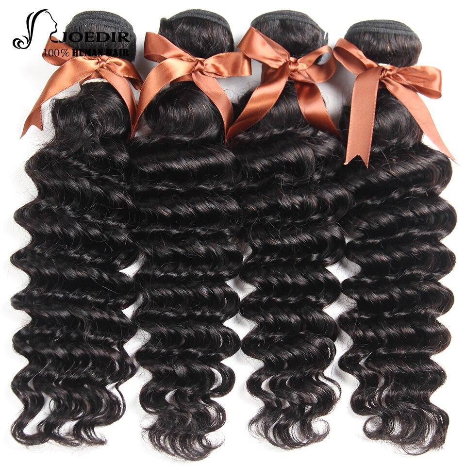Joedir Hair Indian Loose Deep Wave 100% Human Hair 4 Bundles Deal Wet And Wavy Hair 10-20 Inch None Remy Hair Free Shipping
