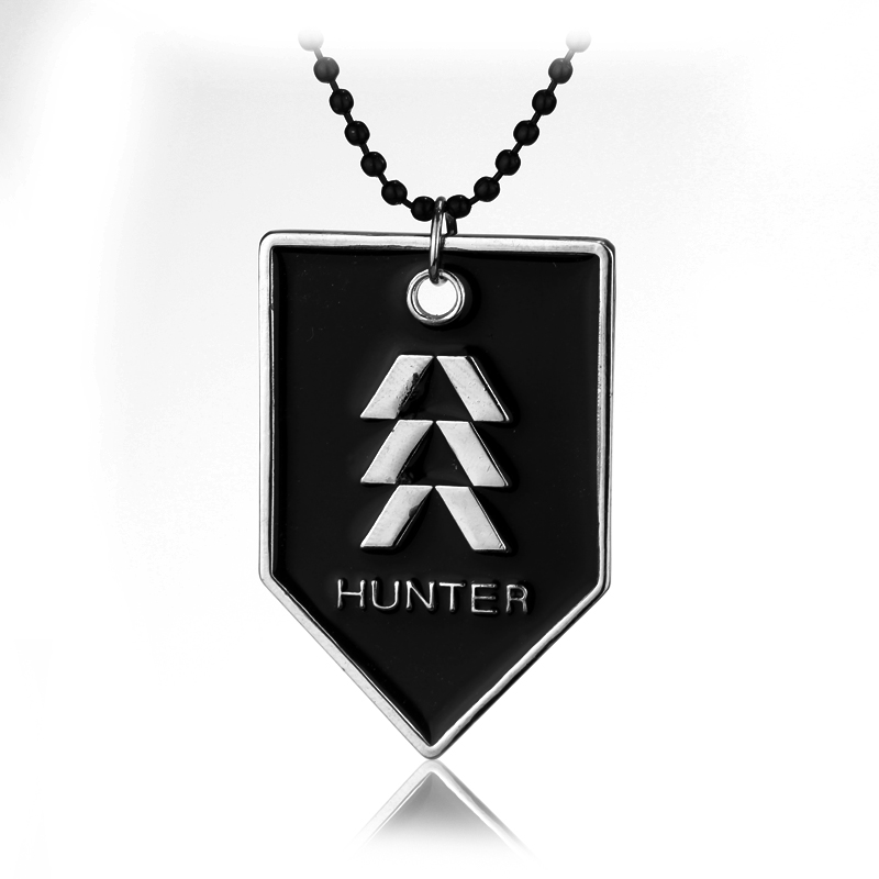 HANCHNAG Jewelry Hot Sale Destiny HUNTER Division Dog Tag Pendant Necklace For Man Women Cosplay Christmas Party Gift