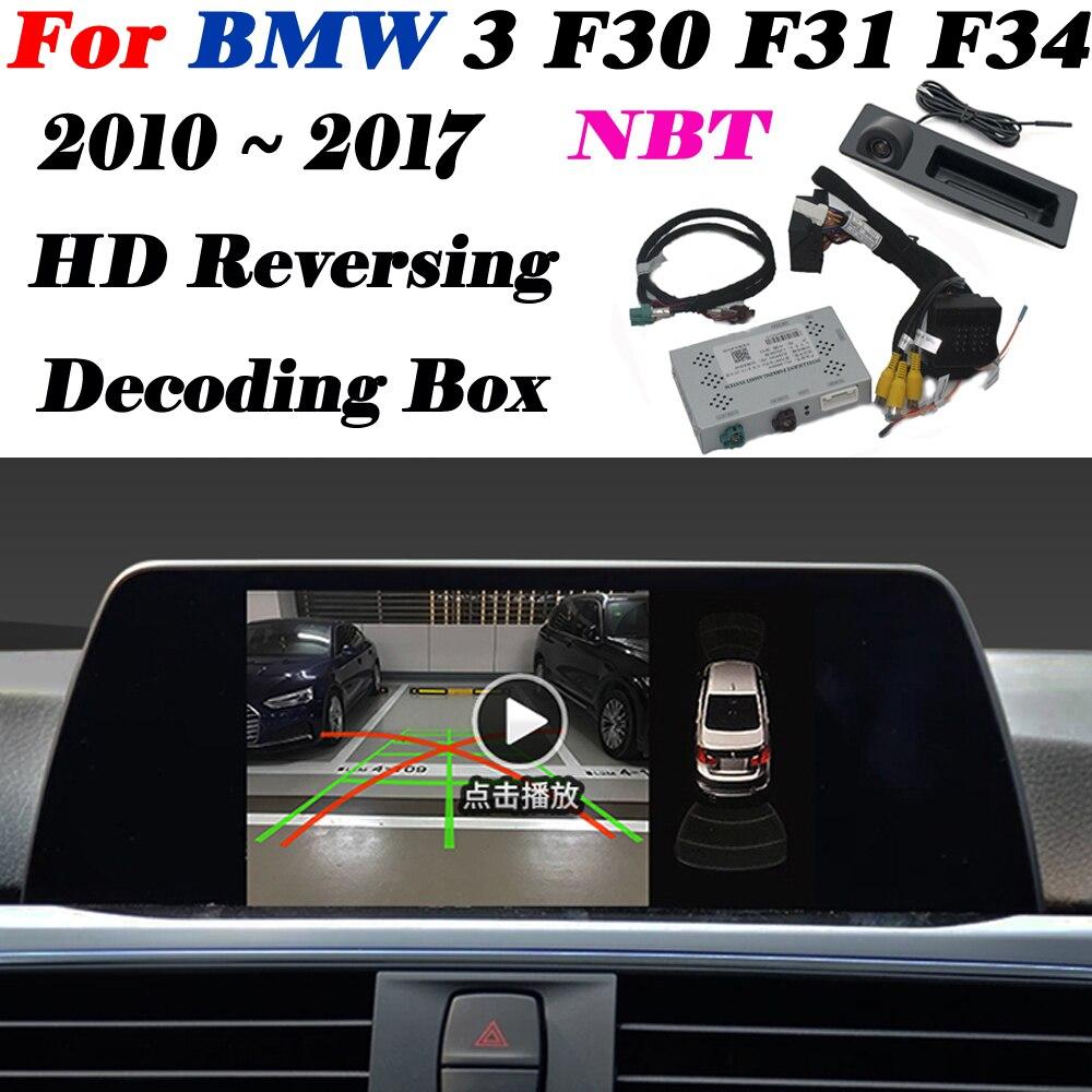 Front Rear Camera For BMW 3 F30 F31 F34 2010 ~ 2020 Interface Adapter Original Display Improve Backup Parking Camera Decoder
