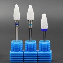 Jewhiteny Ceramic Nail Drill Bit For electric manicure machine accessories Nail Art Tools Electric Manicure Cutter Nail Files
