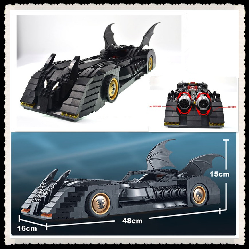 Decool 7116 1045Pcs Super Hero Batman The Ultimate Batmobile Model Building Kits Blocks Bricks Compatible Gift