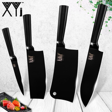 XYj Stainless Steel Knives Japanese Chef Kitchen Ultra Sharp Blade Santoku Meat Cleaver Knife Utility Cooking Tools