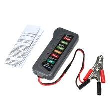 6-светодиодный 12 В дисплей цифровой аккумулятор Генератор тестер батареи монитор уровня батареи для автомобилей для мотоциклов, грузовиков
