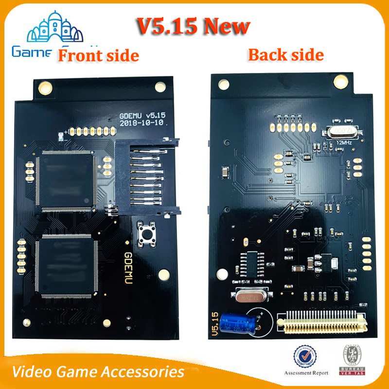 New V5 15 Optical Drive Simulation Board for DC Game Dreamcast Second Generation Built in Free