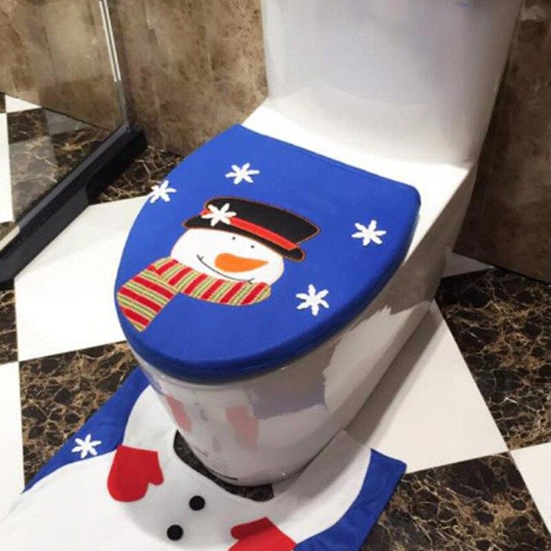 Недавно Рождество украшения фланель милый Рождество Снеговик крышкой один туалет крышка красочные рождественские украшения Enfeites natalinos @ GH