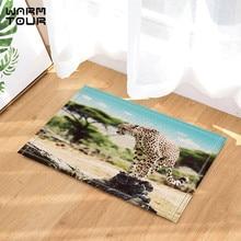 warm tour safari wild animals door mat home decor indoor outdoor entrance doormat rubber backing bathroom accessories