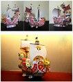 Trabalho mão toy criativo anime One Piece Luffy ensolarado navio 3D DIY papel quebra-cabeça presente das crianças modelo de barco 1 conjunto sem ferramenta