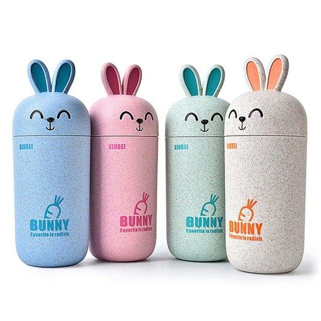 aaa939d1f2 Fashion Kawaii Anime Bunny Wheat Water Bottle with Sleeve Creative Cute  Rabbit Bike Sport Bottle Girl