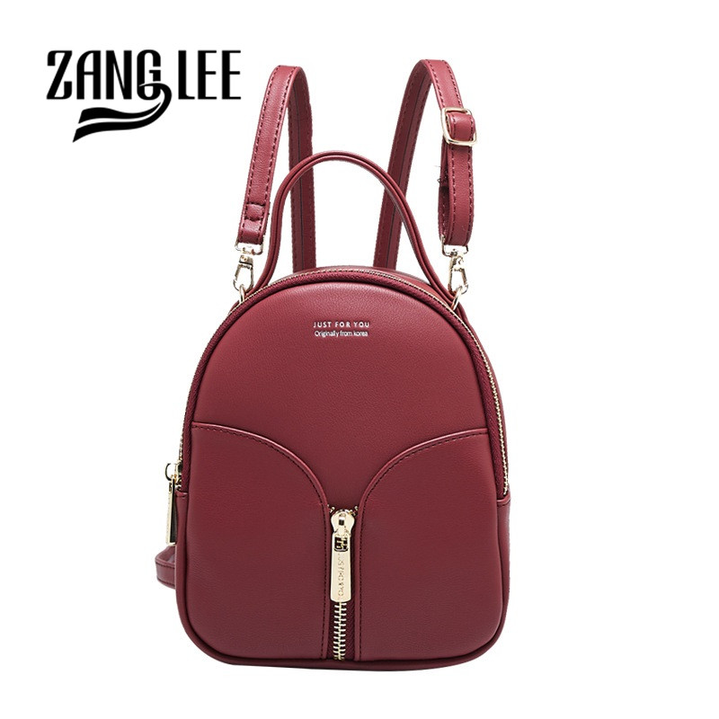 016563b8df ZANG LEE Candy Color Small Backpack for Women Zipper Closure PU Leather  Mini Backpack Purse for Girls Cute Backpack for Kids