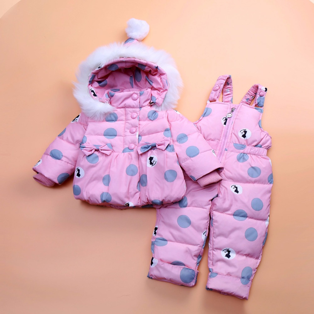 Baby girls boys winter outerwear coats clothing set kid thicken down snow wear overalls infant jumpsuit snowsuit down & parkas 6 24m snow wear baby boys girls rompers down coats winter 2017 baby clothing cotton girls coats fashion baby outerwear
