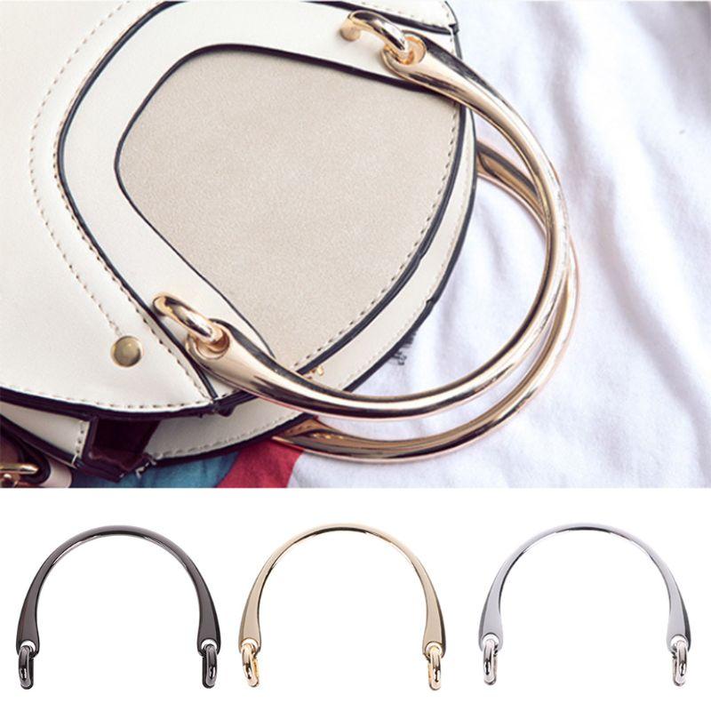 THINKTHENDO Hot New 1 Pc Alloy Bag Handle For DIY Handcrafted Handbag Shoulder Bags Part Accessories 3 Colors