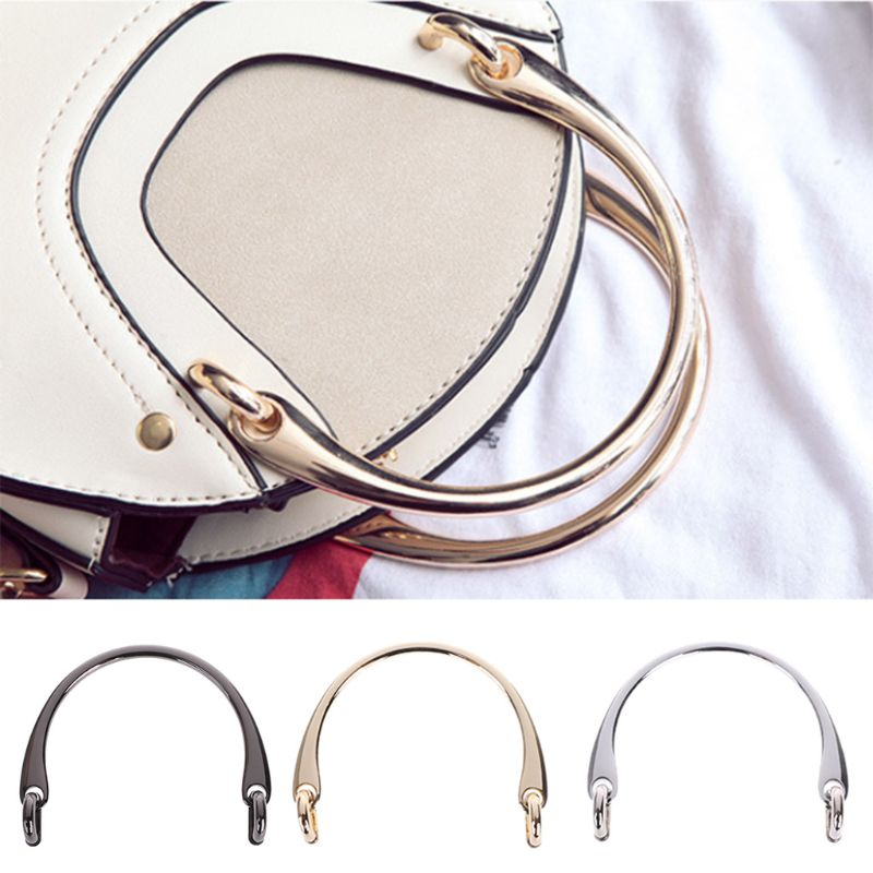 THINKTHENDO Hot New 1 Pc Alloy Bag Handle For DIY Handcrafted Handbag Shoulder Bags Part Accessories 3 Colors