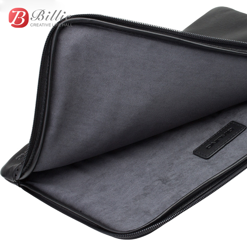 Image 3 - Laptop Sleeve Pouch Case Bag For New Macbook Pro 13 inch Case Genuine Leather For macbook 13 A1706/A1708 Notebook Laptop Cover-in Laptop Bags & Cases from Computer & Office