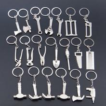 100 sztuk partia Mini metalowe narzędzie klucz do kluczy brelok do kluczy klucz breloki wiertła otwieracz do kluczy brelok do kluczy utrzymać samochód brelok tanie tanio Breloczki Moda Unisex FGHGF TRENDY Ze stopu cynku KYC20180030036 Srebrny Tools None