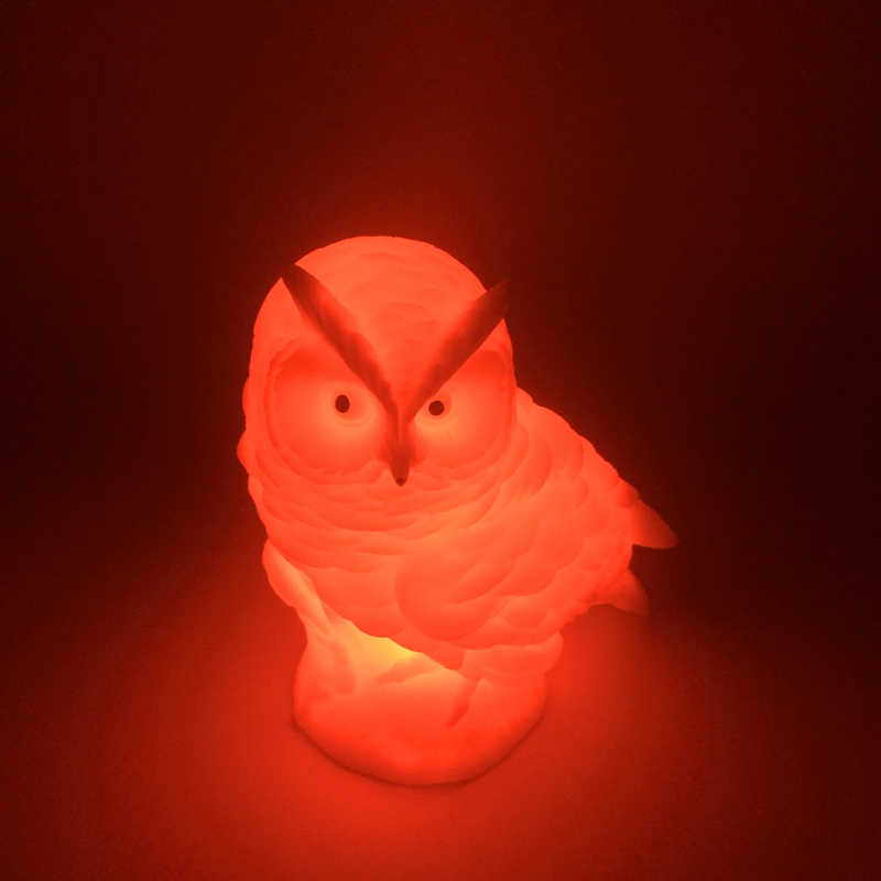 Новое поступление сменный светодиодный ночник Сова мягкий силиконовый 3D красочный светильник креативный подарок для настольного стола детская прикроватная Подушка игрушка