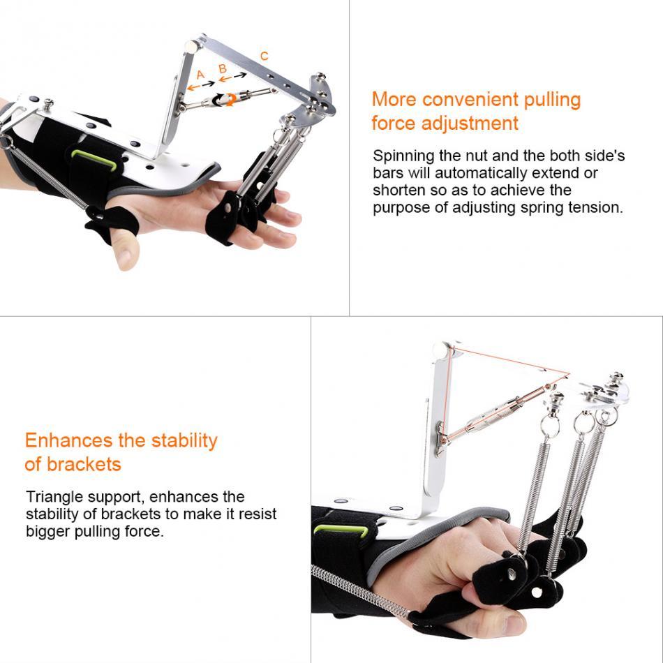 US $37 48 37% OFF|OPER Adjustable Finger Splint Protector Medical Wrist  Orthotics Rehabilitation Trainer Tendons Exercise for Stroke Hemiplegia-in
