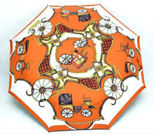 Mode nouvelle création royal wagon entièrement automatique parapluie adulte femme anti-uv pliant soleil pluie parapluie en plein air durable parapluie