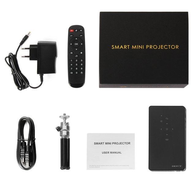 WZATCO CT50 Android 7.1 OS WIFI Bluetooth Pico Mini Micro lAsEr DLP Projector 6