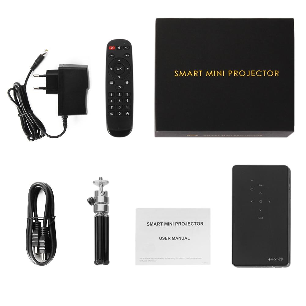 WZATCO CT50 Android 7.1 OS WIFI Bluetooth Pico Mini Micro lAsEr DLP projecteur Portable Proyector avec batterie pour Home cinéma - 6