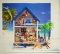 24th DIY Wooden Handcraft  Doll House 3D Model Kit- Miniatures Dollhouse-Large Beach Villa &Furnitures