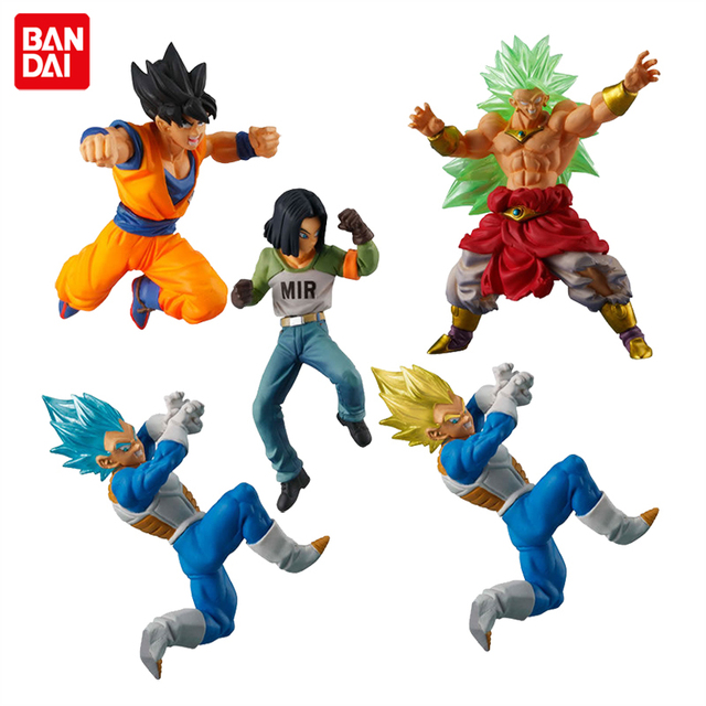 Us 65 39 25 Off Japan Anime Dragon Ball Super Original Bandai Gashapon Figure Battle Vs 05 Full Set Of 5 Pcs Goku Broly Vegeta Android 17 In