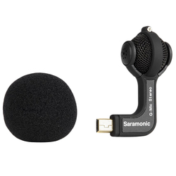 AABB-Saramonic G-Mic for Gopro Mic Accessories Mini Dual Stereo Ball Professional Microphone for Gopro Hero4 Hero3+ Hero3 Acti