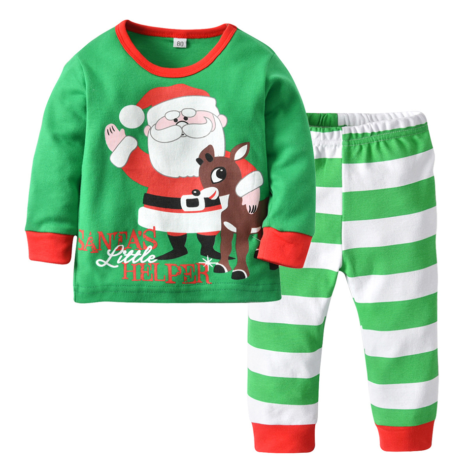 ZMHYAOKE 2018 New Winter Baby Clothes Pyjamas Sets Christmas Santa ... df568eed5
