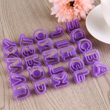 40pcs Alphabet Number Letter Cake Mould Cookie Cutter Set Mold Fondant DIY Baking Tools Accessories 26 english alphabet cookie mold set baking tools