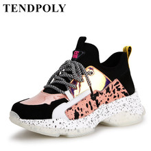 Female Shoes Sneakers Women Luxury Comfortable White Fashion New Soft Casual Lacing Mixed-Colors