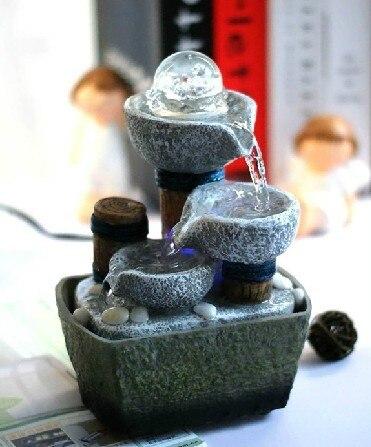 מזרקת תכונות מים פנג שואי גלגל שולחן העבודה קישוט בית תפאורה מתנת מזרקת מים ביתיים