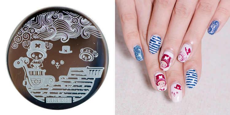 HEHE 2016 ใหม่Hot Stampingแผ่นHehe15 การ์ตูนอะนิเมะOne Piece Jobar Nail Art Stamp Template Image Transfer Stamp