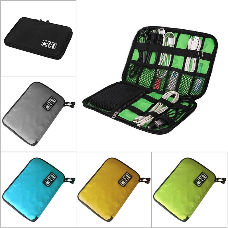 Newly Electronic Accessories Travel Bag Nylon Mens Travel Organizer For Date Line SD Card USB Cable Digital Device Bag