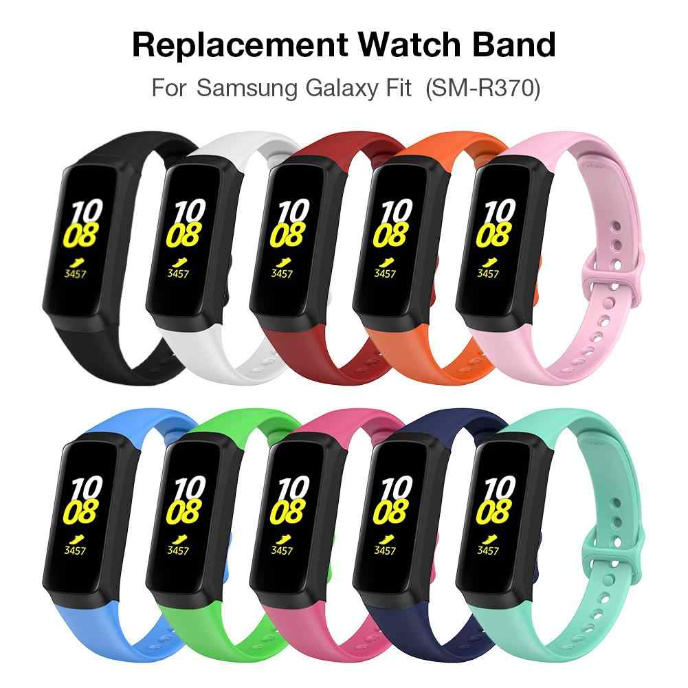 سوار ذكي حزام (استيك) ساعة الاسترجاع حزام ل صالح SM-R370 متعدد الألوان ساعات سيليكون الفرقة الأشرطة معصمه