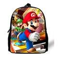 12-inch Mini Kids Bag Boys Super Mario Schoolbag Backpack Children Girls Age 1-6 Cartoon Infant Bag
