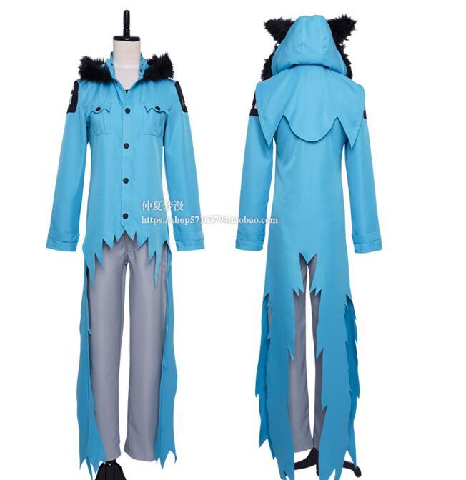 SERVAMP Mahiru Shirota cat Kuro Sleepy Ash Cosplay Costume Halloween Costume uniform suit Full outfit