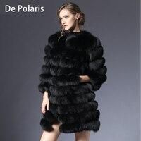 Женское пальто с мехом лисы натуральное зимнее натуральное Женское пальто из лисьего меха с меховым жилетом для девочек пальто женские жил