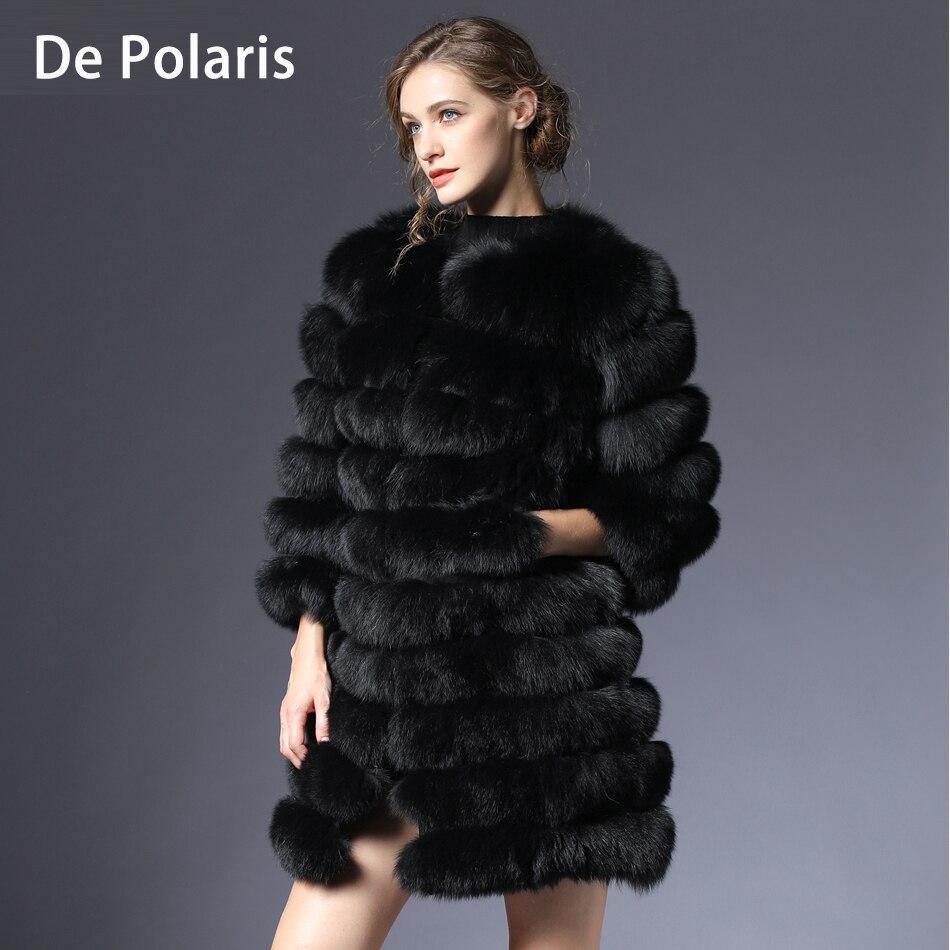 Women Fur Coat Fox Real Natural Winter Genuine Natural Women Fox Fur Coat With Fur Vest Girl Coat Womens Vests Fox Coats DHL